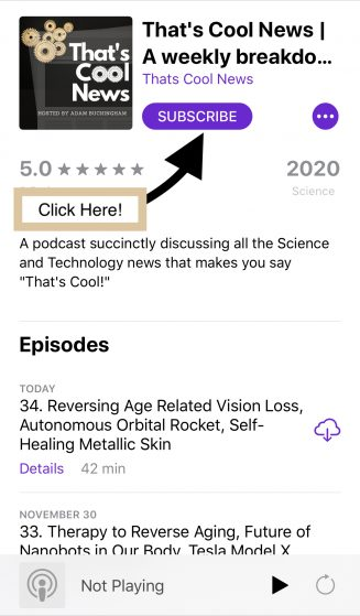 Apple Podcast First Image